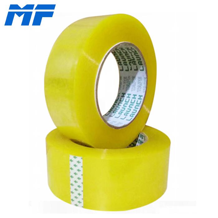 德州明发 黄色封箱胶带宽4.35cm 透明打包胶带批发可定制logo