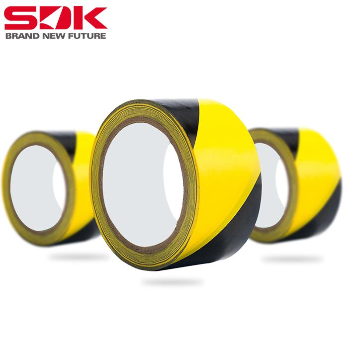 斯迪克斑马地面胶带黄黑警示胶带pvc划线黑黄警示胶带批发定制